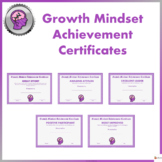 Growth Mindset Achievement Certificate For Teens - Purple Edition