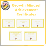 Growth Mindset Achievement Certificate For Teens - Yellow Edition