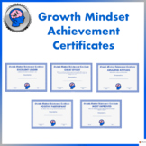 Growth Mindset Achievement Certificate for Teens- Blue Edition