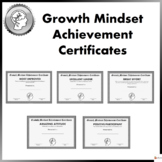 Growth Mindset Achievement Certificates For Teens- Black a