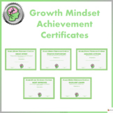 Growth Mindset Achievement Certificates For Teens- Green edition