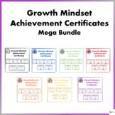 Growth Mindset Achievement Certificates For Teens Mega Bundle