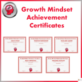 Growth Mindset Achievement Certificates For Teens - Red Edition