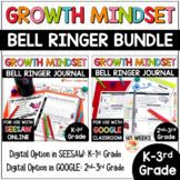 Growth Mindset Bell Ringers: Daily Warm-Up BUNDLE for K-3