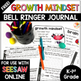 Growth Mindset Bell Ringers Activities | FREE Daily Warm-Ups K-1st Grade