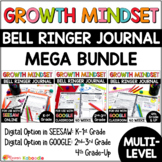 Growth Mindset Bell Ringers: Daily Warm-Up MULTI-LEVEL Mega-BUNDLE