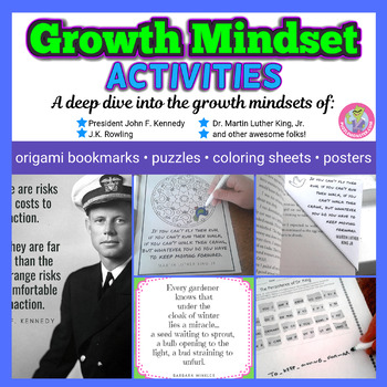 Growth Mindset Activities: Middle School Growth Mindset