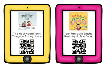 Growth Mindset Activities and QR Codes Listening Center