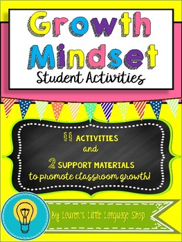 Growth Mindset Activities and Support Tools!
