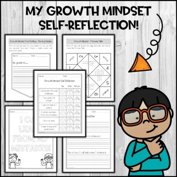 Growth Mindset Activities and Worksheets