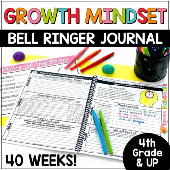 Growth Mindset Bell Ringers: Daily Warm-Up Journal Activities 4th Grade and Up