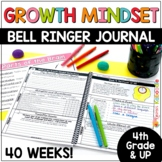 Growth Mindset Activities: Growth Mindset Bell Ringers 4th Up to Middle School