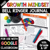 Growth Mindset Bell Ringers Activities | FREE Bell Ringer Warm-Ups 4th-UP