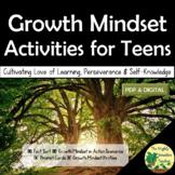 Growth Mindset Activities for Teens   PDF & Digital
