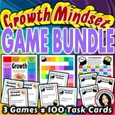 Growth Mindset Activity BUNDLE 3 Games with Task Cards