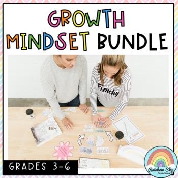 Growth Mindset Activity BUNDLE  - Grade 3 - 6
