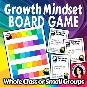 Growth Mindset Activity Board Game with Task Cards