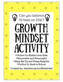 Growth Mindset Activity - Can you Balance 10 Nails?