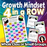 Growth Mindset Activity 4 in a Row Game with Task Cards
