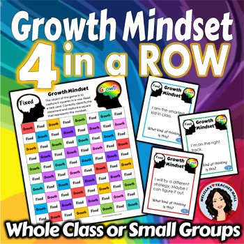 Growth Mindset Activity Connect 4 Game with Task Cards