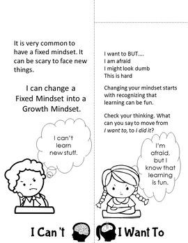 Growth Mindset Activity Flip Flap Book