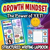 Growth Mindset The Power of Yet Activity Lapbook