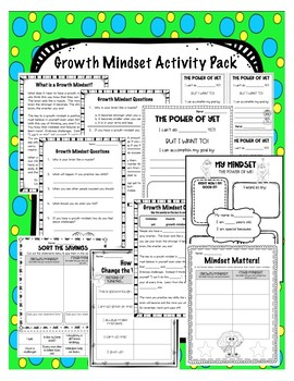 Growth Mindset Activity Pack - 8 Resources!