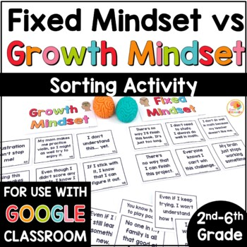 Growth Mindset Sort Activity: Fixed Mindset vs. Growth Mindset with Reflections