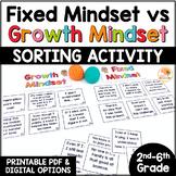 Growth Mindset Sorting Activity: Fixed Mindset vs. Growth Mindset