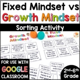 Growth Mindset and Fixed Mindset Sort | Growth Mindset Sorting Activity