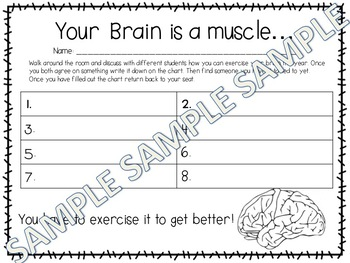 Growth Mindset Activity Sheets for Class Dojo
