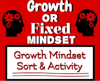 Growth Mindset Activity & Sort