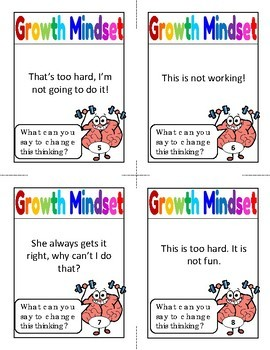 Growth Mindset Game Activity Spinner Game with Task Cards