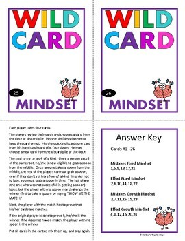 Growth Mindset Activity Spoons Game with Task Cards