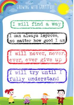 Growth Mindset - Affirmation Poster
