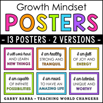 Growth Mindset Affirmation Posters