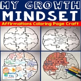 Growth Mindset & Affirmations Brain Puzzle Activity