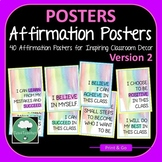 Growth Mindset Affirmations Posters - 40 Posters for Class