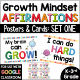 Growth Mindset Posters Bulletin Board SET #1 for Primary Grades