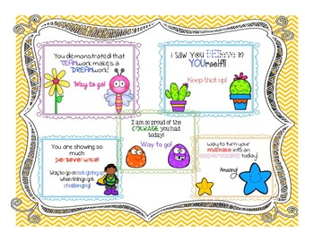 Growth Mindset Affirmations- Words of Encouragement