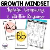 Growth Mindset Alphabet and Vocabulary