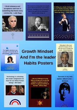 Growth Mindset - And I'm the leader - Habits Posters
