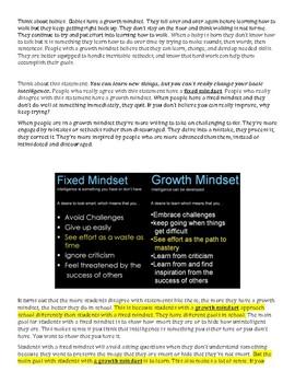 Growth Mindset Article for Mathematics