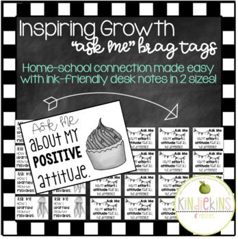 Growth Mindset Badge Clip Brag Tags