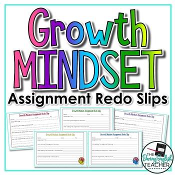 Growth Mindset Assignment Redo Slips