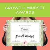 Growth Mindset Award Certificate