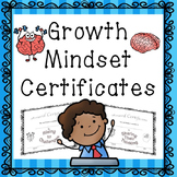 Growth Mindset Award Certificates