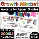 End of Year Growth Mindset Awards