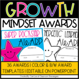 Growth Mindset Awards (End of the Year) | Distance Learning