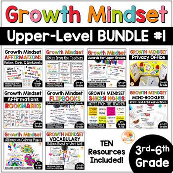 Growth Mindset BUNDLE: Affirmation Posters, Flip Books, &